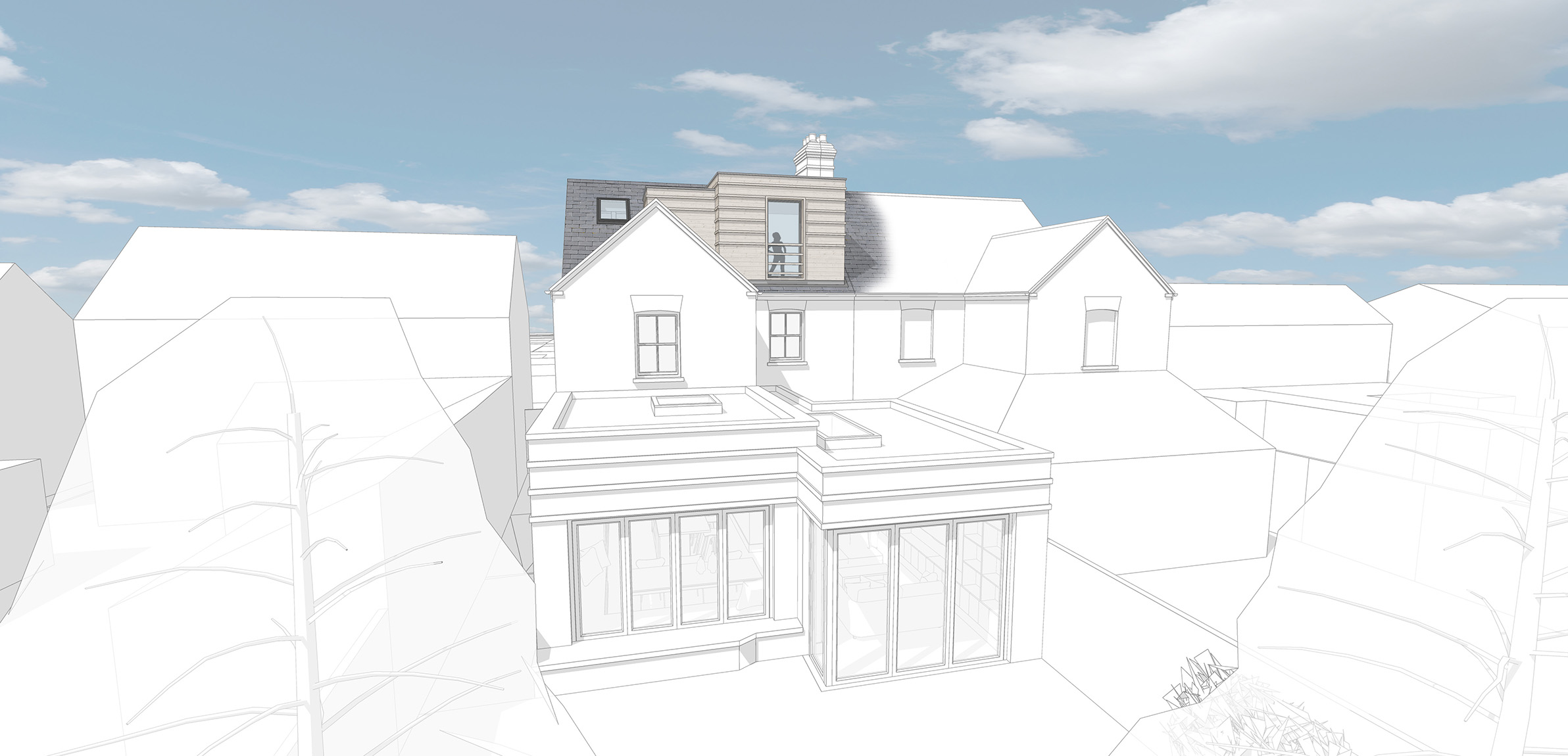 Revised dormer - south view
