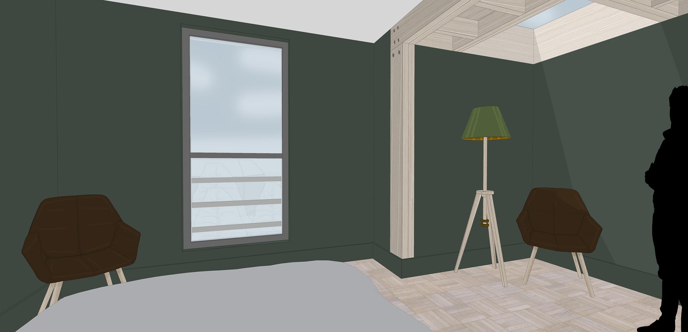 Revised dormer - interior